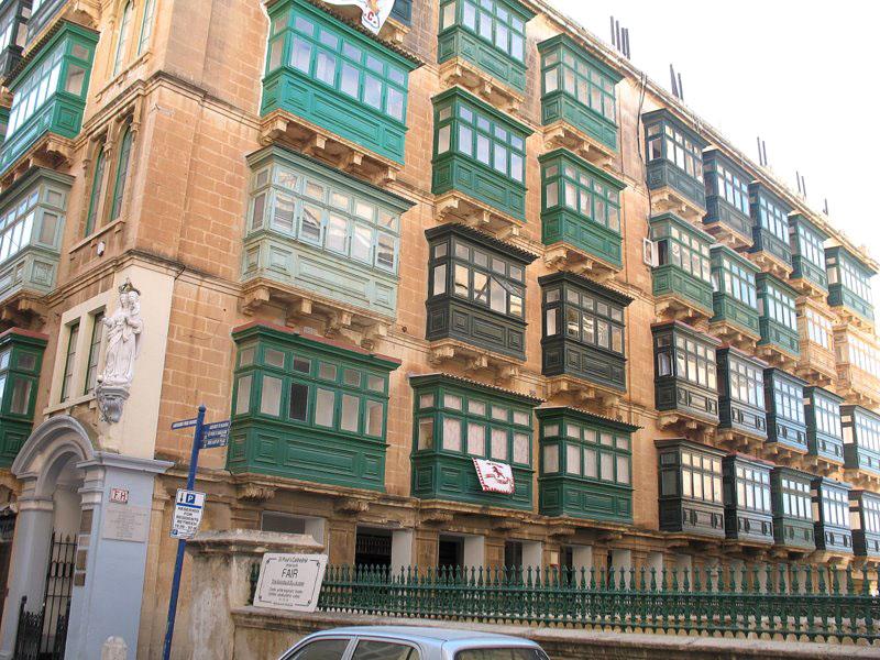 Балконный апофеоз в городе Валетта / Фото с Мальты