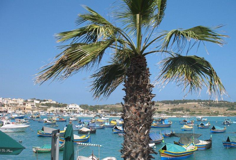 """Лодки """"луццу"""" в деревне Марсашлок / Фото с Мальты"""