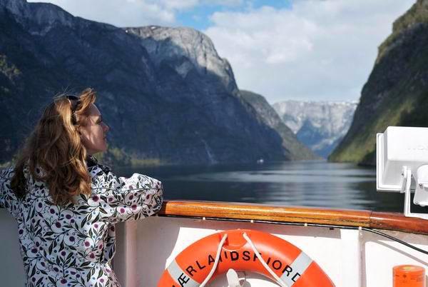 На пароме в Согндал / Фото из Норвегии