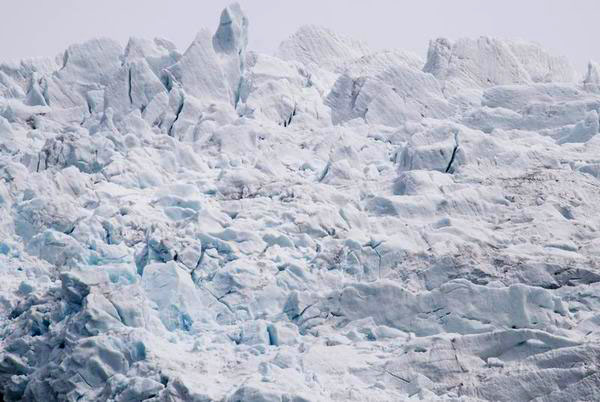 На леднике Юстедалсбре в Норвегии / Фото из Норвегии