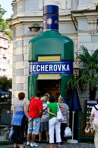 """Пункт продажи """"Бехеровки"""" / Фото из Чехии"""