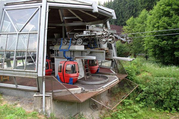Станция фуникулера в Марианске-Лазне / Фото из Чехии