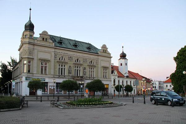 Площадь в городе Подебради / Фото из Чехии