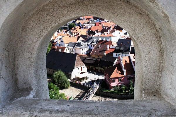 Вид на город Чески-Крумлов / Фото из Чехии
