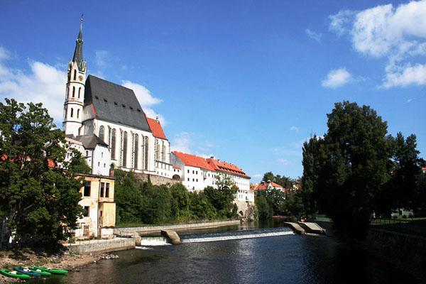 Церковь Святого Витта в городе Чески-Крумлов / Фото из Чехии