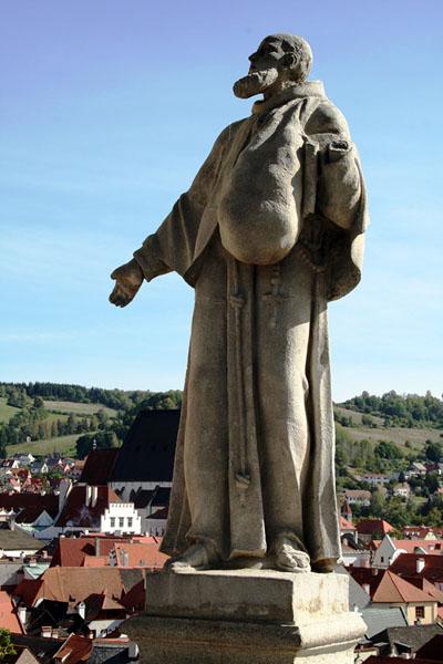 Скульптура в саду замка, Чески-Крумлов / Фото из Чехии