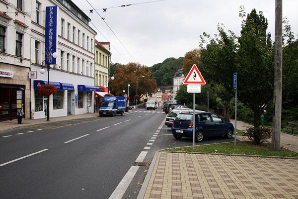 Улица в городе Теплице / Фото из Чехии