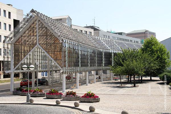 Современные постройки в городе Теплице / Фото из Чехии