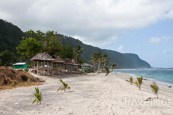 Фале для туристов на Самоа / Фото с Западного Самоа
