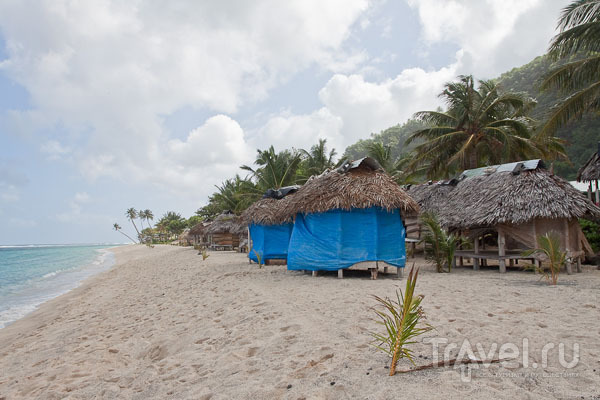 Фале на берегу / Фото с Западного Самоа