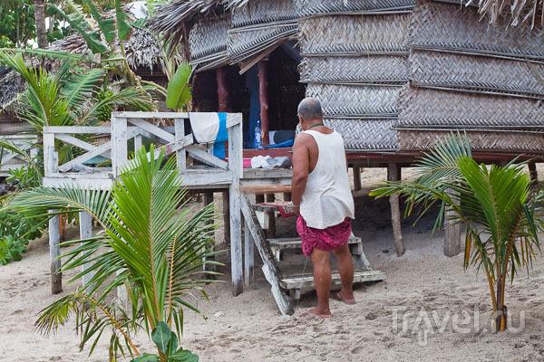 Уборка номера гостиницы на Самоа / Фото с Западного Самоа