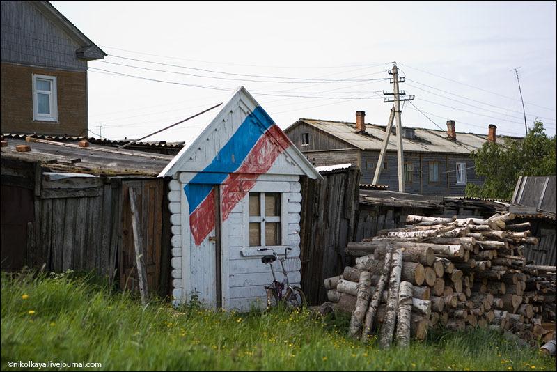 Сарай для туристов на Соловках / Фото из России
