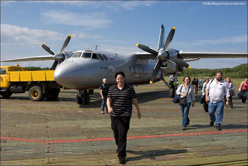 На аэродроме Большого Соловецкого острова / Фото из России