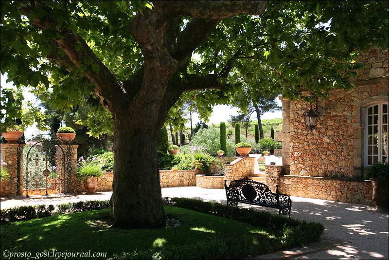 Двор винодельческого хозяйства во Франции / Фото из Франции