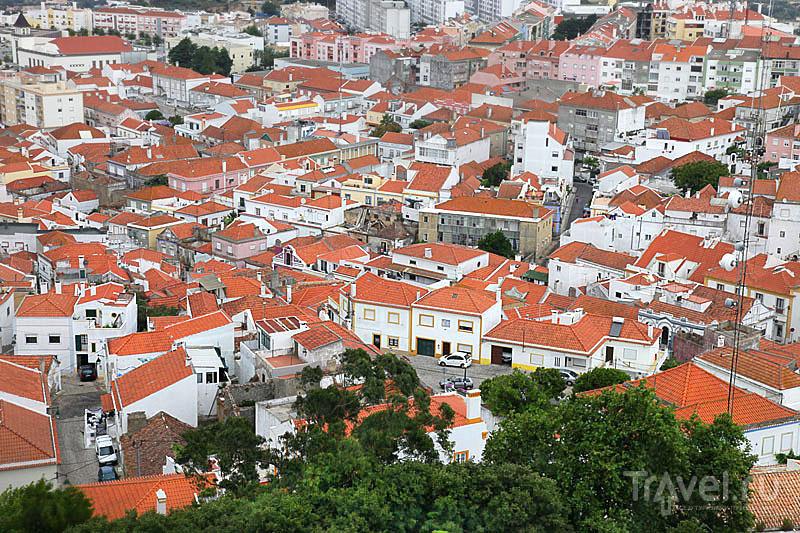 Белоснежные дома с черепичными крышами, Палмела / Фото из Португалии