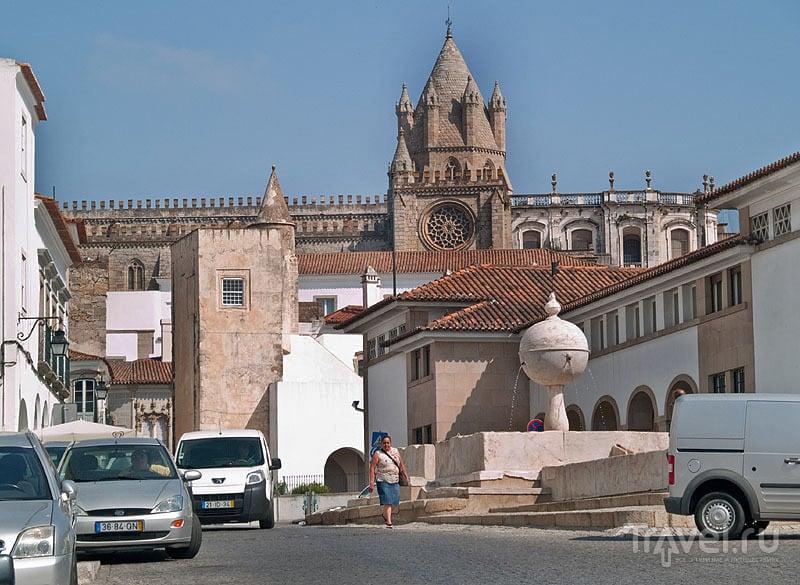Largo das Portas de Moura и кафедральный собор, Эвора / Фото из Португалии