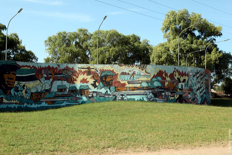 Мозаичная картина в Мапуту, Мозамбик / Фото из Мозамбика