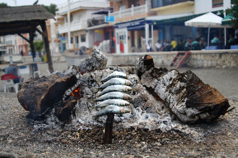 Копчение рыбы в Малаге, Испания / Фото из Испании