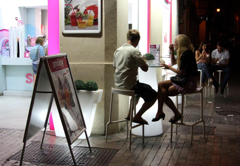 Кафе-мороженое в Малаге, Испания / Фото из Испании