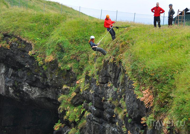 Раппеллинг в Гьоугве / Фото с Фарерских островов