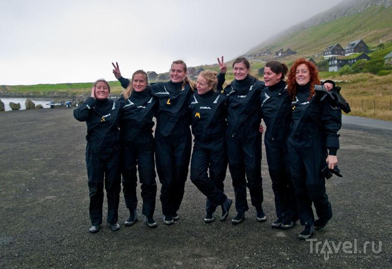 Наша группа в сухих гидрокостюмах / Фото с Фарерских островов