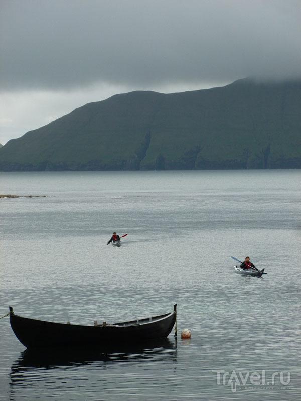 Заплыв на каяках на Фарерах / Фото с Фарерских островов