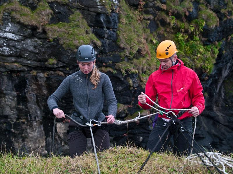 Первые шаги к обрыву / Фото с Фарерских островов