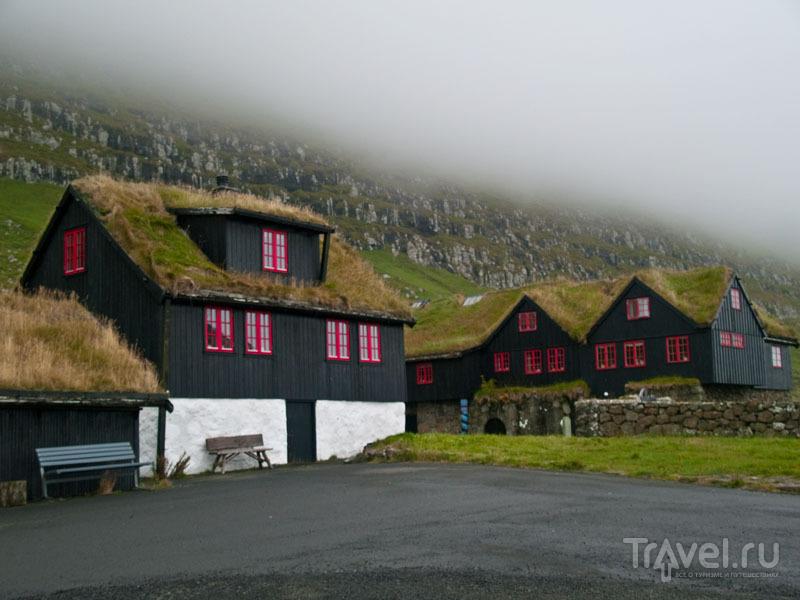 Древние дома в Киркьюбё / Фото с Фарерских островов
