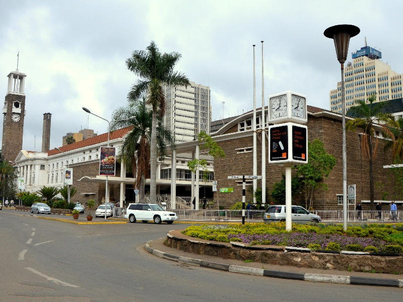 Площадь в Найроби / Фото из Кении