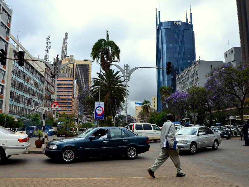Улица в центре Найроби / Фото из Кении