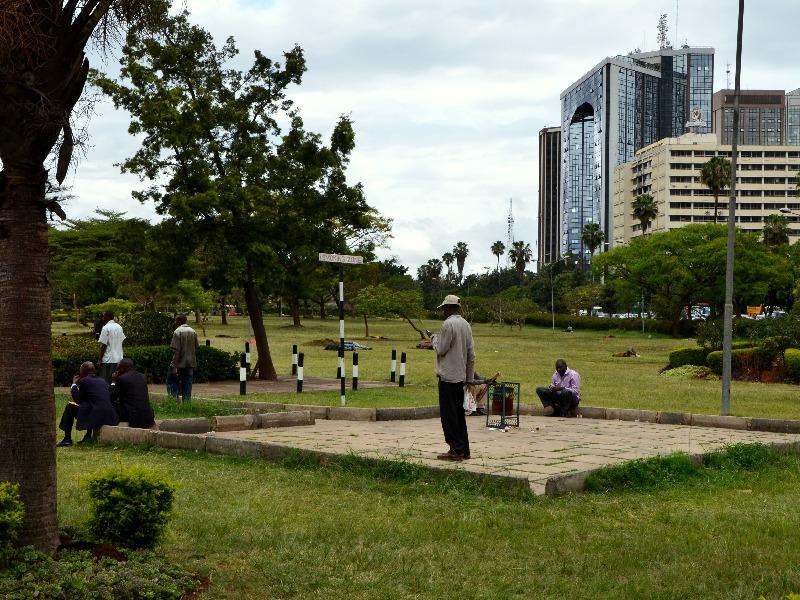 Место для курения в парке Uhuru, Найроби / Фото из Кении