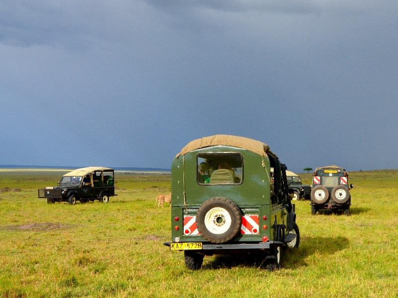 Машины для сафари в национальном парке Масаи-Мара, Кения / Фото из Кении