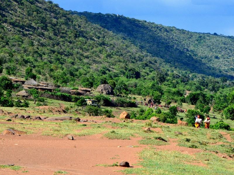 Деревня масаев, Кения / Фото из Кении