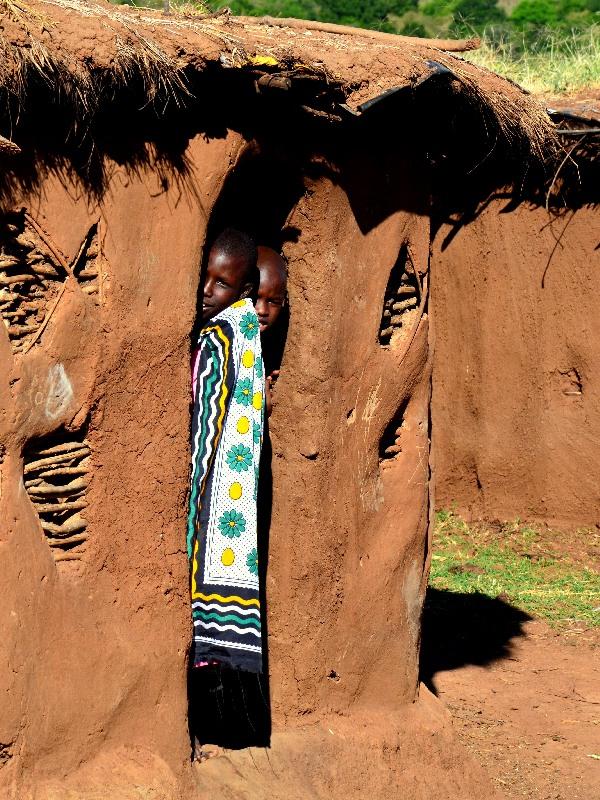 Типичный дом племени масаев, Кения / Фото из Кении