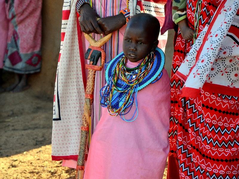 Ребенок из племени масаев / Фото из Кении