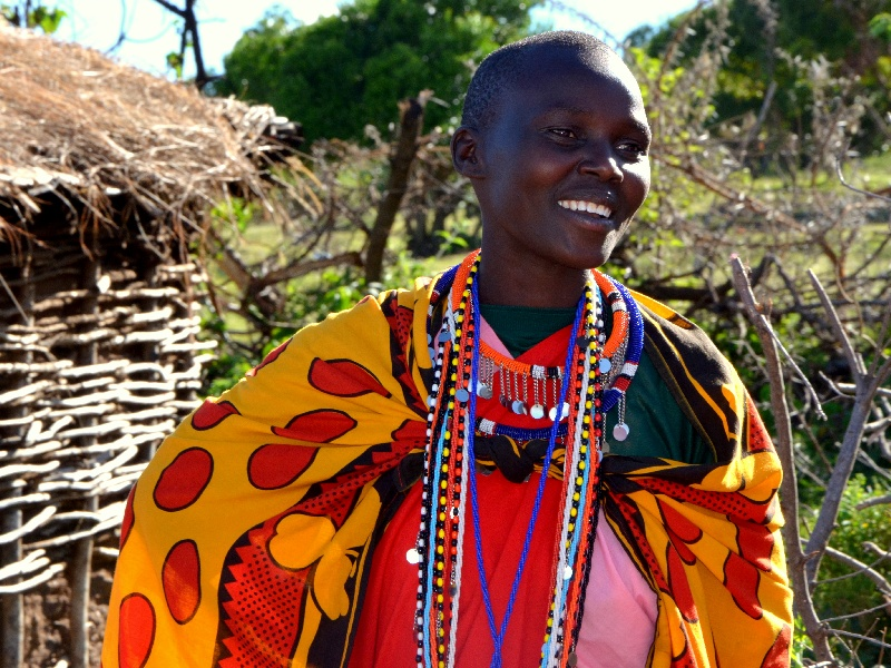 Жительница деревни масаев, Кения / Фото из Кении
