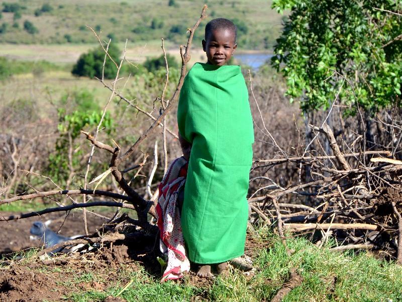 Ребенок из племени масаев, Кения / Фото из Кении