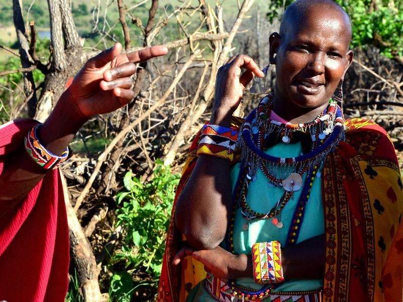 Жительницы деревни масаев, Кения / Фото из Кении