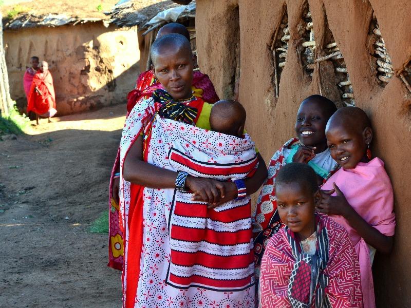 Жители деревни масаев, Кения / Фото из Кении