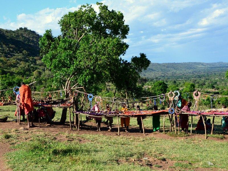 Рынок в деревне масаев, Кения / Фото из Кении