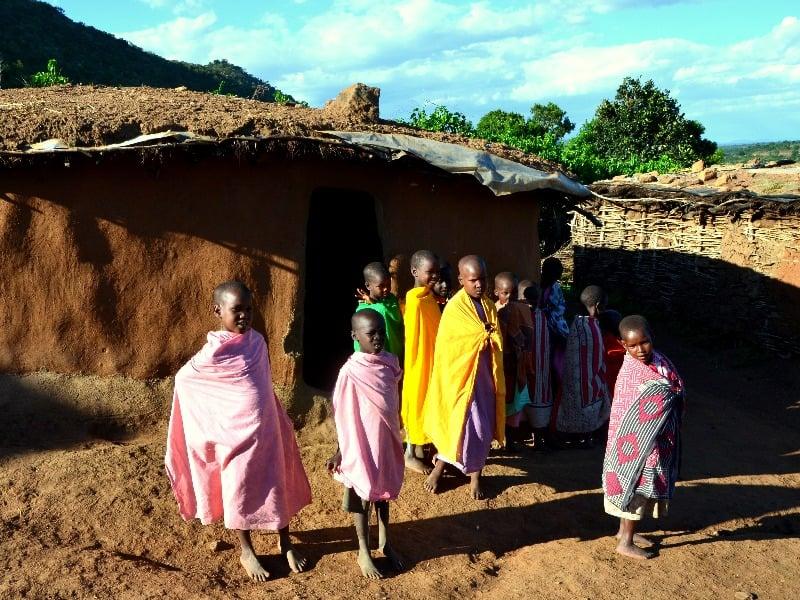 Дети из деревни масаев, Кения / Фото из Кении