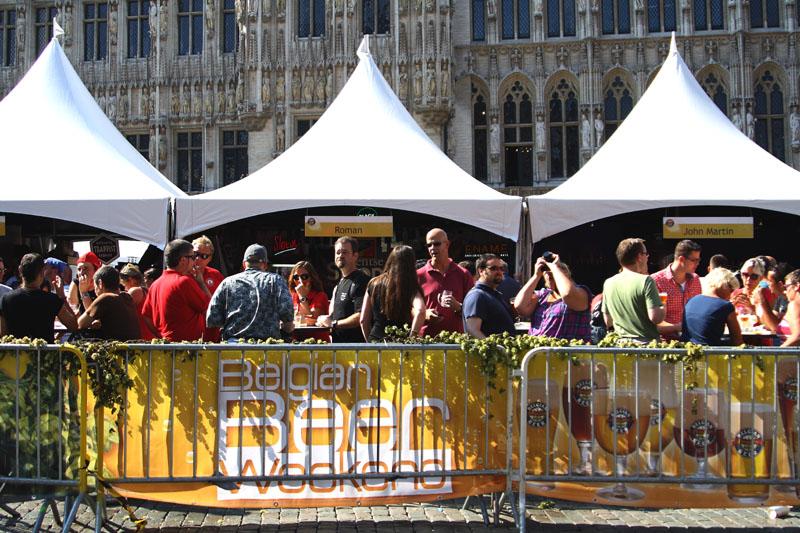 Палатки на Бельгийском пивном уик-энде / Фото из Бельгии