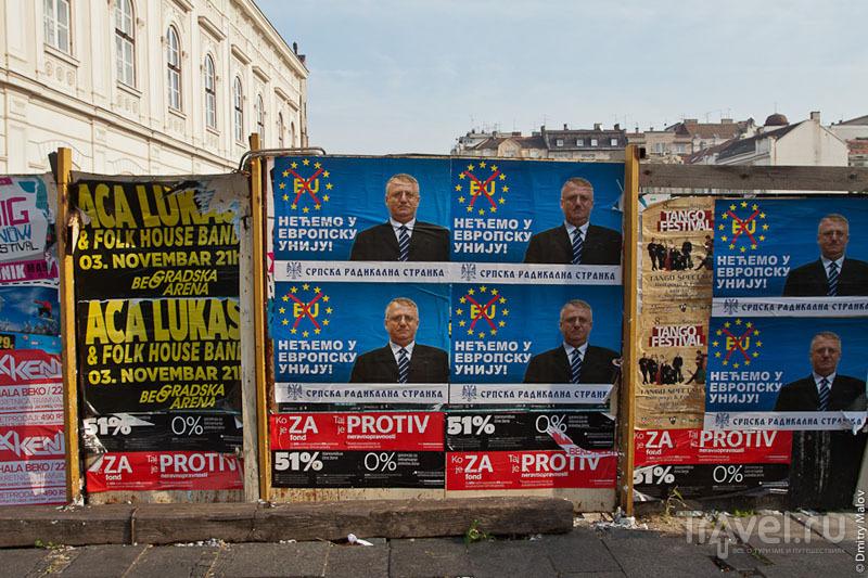 Предвыборная агитация в Белграде, Сербия / Фото из Сербии