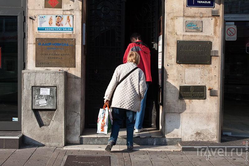 Таблички на здании в Белграде / Фото из Сербии