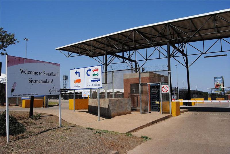 Пограничный пост между ЮАР и Свазилендом / Фото из Свазиленда