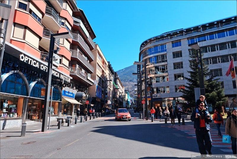 В центре столицы Андорры / Фото из Андорры