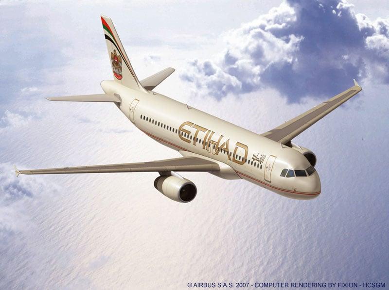 Самолет авиакомпании Etihad Airways / Фото из ОАЭ