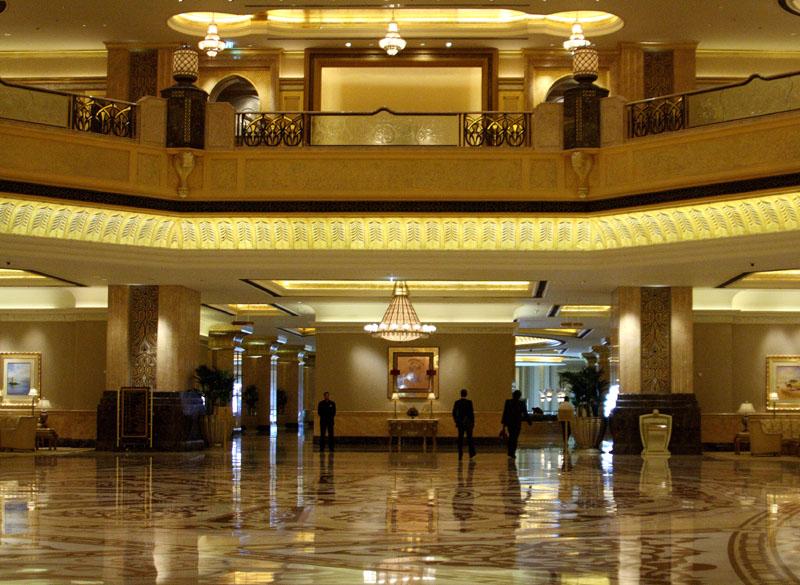 В отеле Emirates Palace, Абу-Даби / Фото из ОАЭ