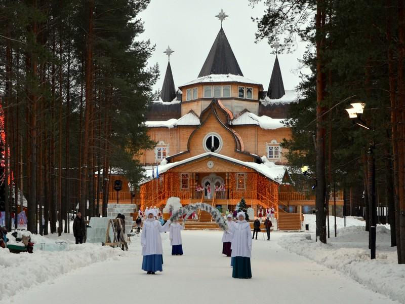 Дорога к дому Деда Мороза / Фото из России
