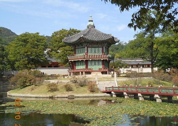 Парк у дворца в Сеуле / Фото из Южной Кореи